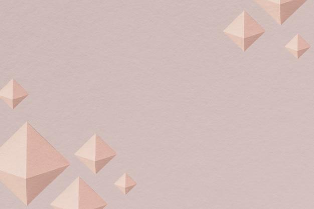 3d銅ペーパークラフト五面体パターンの背景