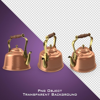 分離された3d銅ティーケトル
