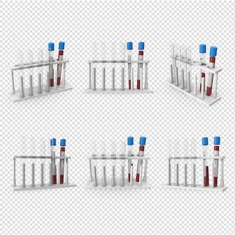 3d 코로나 바이러스 혈액 샘플 격리됨에