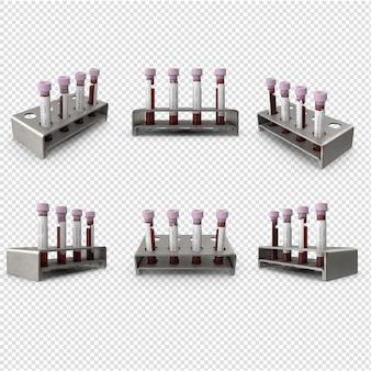 3d образцы крови вирус короны изолированные