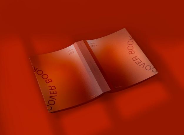 3d обложка макета открытой книги