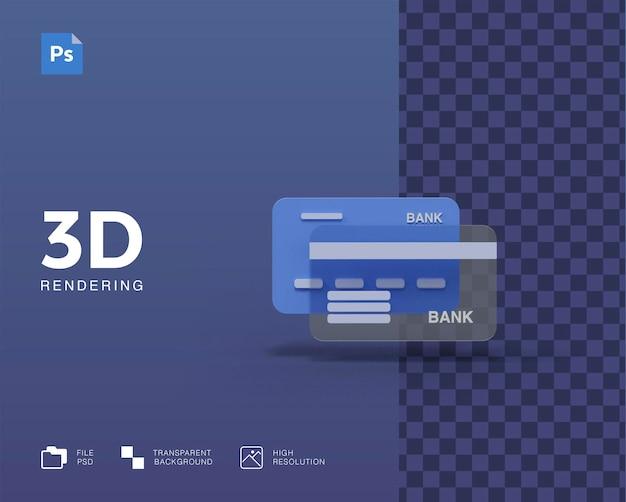 3d 신용 카드 그림