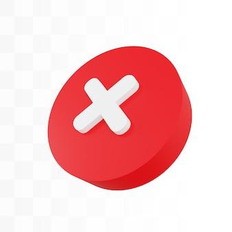 Значок 3d крест закрыть cancle