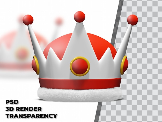 3d crown with transparency background