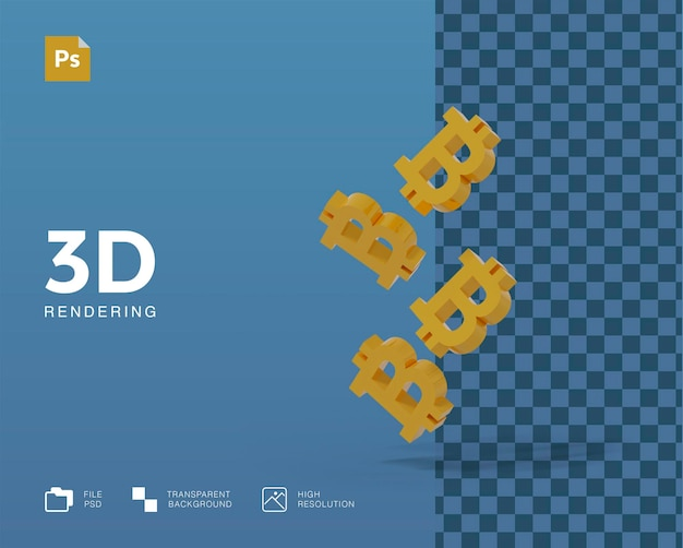 3d иллюстрации криптовалюты