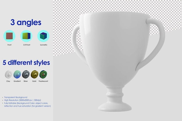 3d cup icon