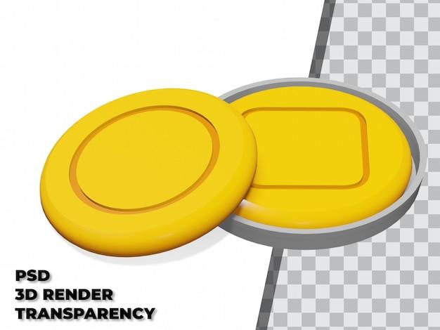 透明な背景を持つ3dダルゴナキャンディー