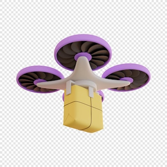3d доставка дроном почтовых посылок бесконтактная доставка доставка посылок современные технологии