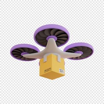 3d доставка ящика дроном бесконтактная доставка доставка посылок современные технологии