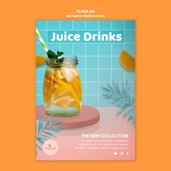 3d depth and realism drinks flyer