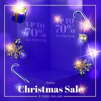 3d дизайн рождественская распродажа