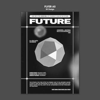 3d design flyer template