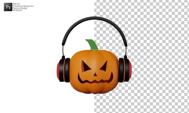 3d дизайн хэллоуин тыква иллюстрация