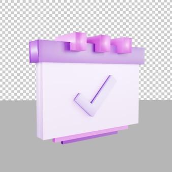 3d design icon calendar event deadline illustration for business