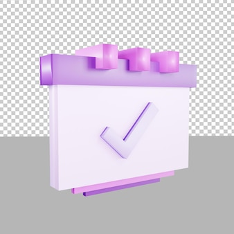 비즈니스를 위한 3d 디자인 아이콘 캘린더 이벤트 마감 그림