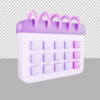 3d дизайн значок календаря событие крайний срок иллюстрации для бизнеса