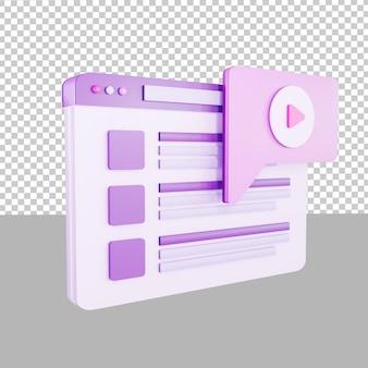 3d дизайн значок приборной панели видео чат иллюстрации для бизнеса