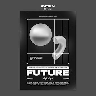 3d design poster template