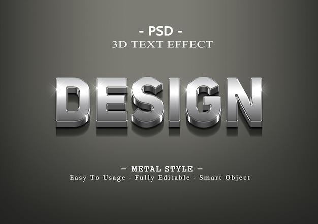 3d дизайн серебряный текстовый эффект