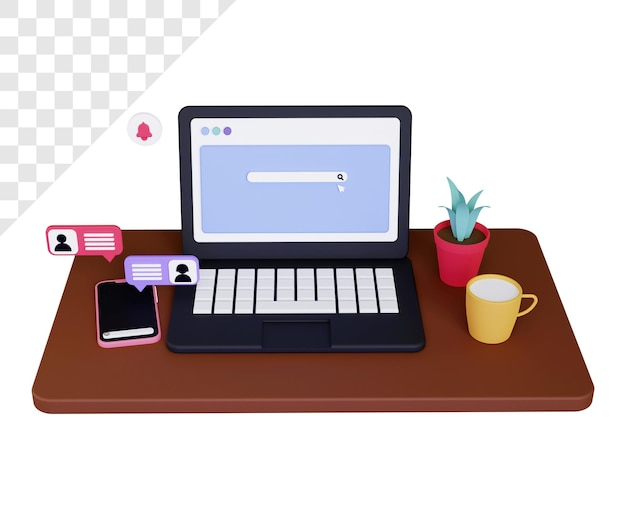 オンラインチャット付きの3dデバイス