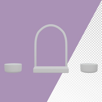 3d different shaped rounded podium background image template