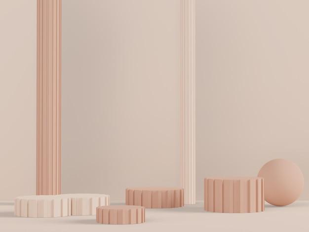 간단한 기하학적 모양으로 제품 및 화장품 프레젠테이션을 위한 3d 디스플레이 연단