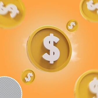 3d доллар монета золотой