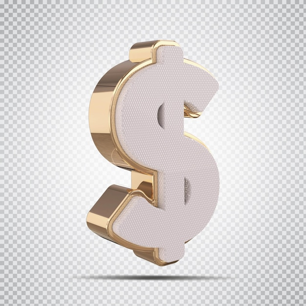 3d доллар золото роскошь креатив