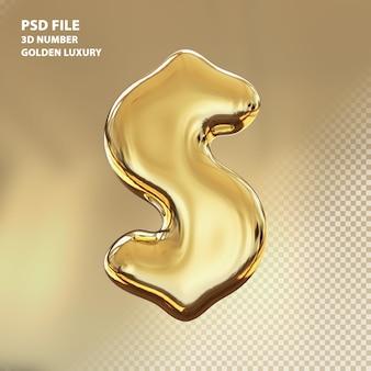 3d визуализация золотой роскоши