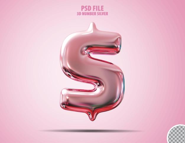 3d доллар розовый роскошный рендер