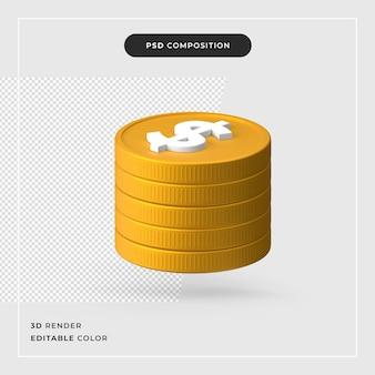 3 d ドルの現実的な概念