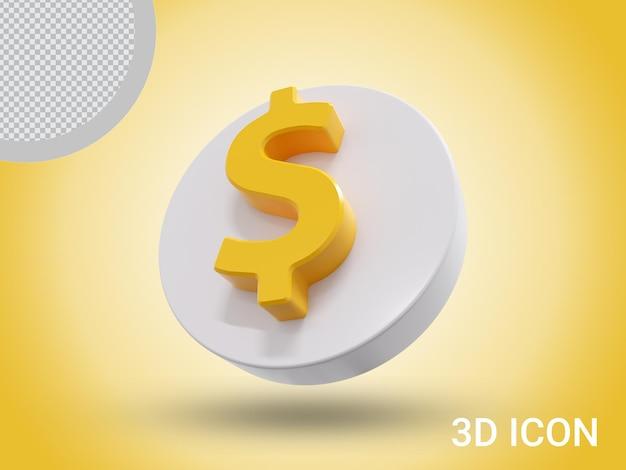 Дизайн иконок знак доллара 3d