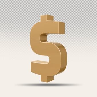 3d символ доллара золотая роскошь