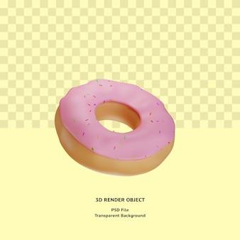 3d 도넛 illustratin 개체 렌더링 프리미엄 psd