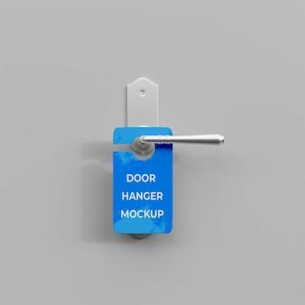 3d door hanger mockup