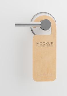 3d door rail or door hangers that hangs on the door mockup