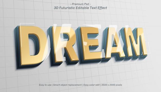 Редактируемый текстовый эффект 3d dream
