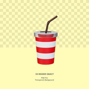 3d напиток illustratin объект визуализирован премиум psd
