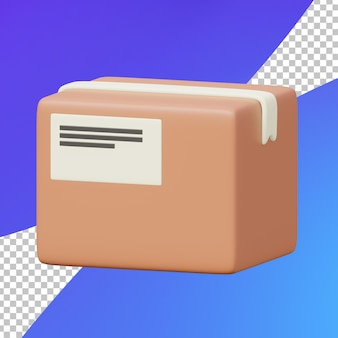 Коробка пакета электронной коммерции 3d