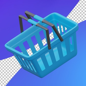 Корзина покупок для электронной коммерции 3d