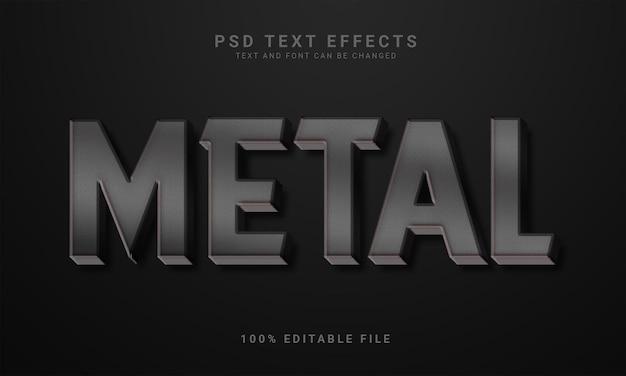 3d editable metal text effect