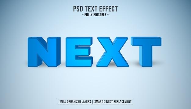 Next 3d editable text sytle effect