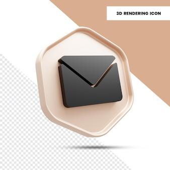 3dメールと封筒のレンダリングアイコン