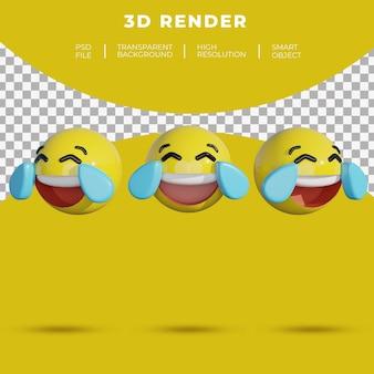 3d смайлики в социальных сетях лицо веселые слезы во время смеха рендеринг