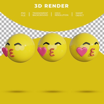 3d emoji social media face cheerful smile rendering