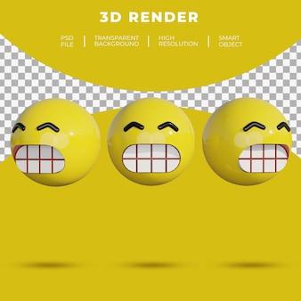3d смайлики социальные сети лицо веселая улыбка рендеринг