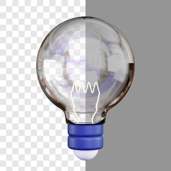 分離された 3 d エネルギー電球のレンダリング