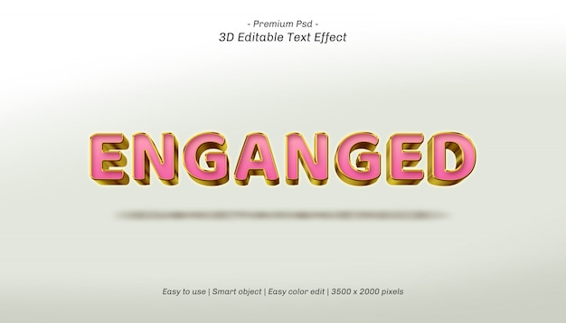 3d enganged editable text effect