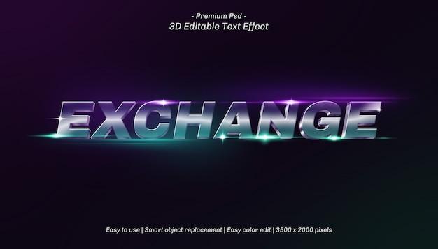 3d exchange editable text effect