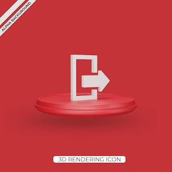 Изолированные значок 3d выхода визуализации